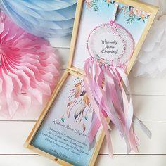 PUDEŁKO PODZIĘKOWANIE dla Matki Chrzestnej Łapacz Snów Matki, Gift Wrapping, Box, Frame, Gifts, Decor, Gift Wrapping Paper, Picture Frame, Snare Drum