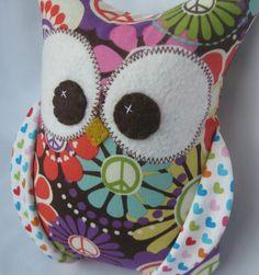 Small Plush Owl Peace