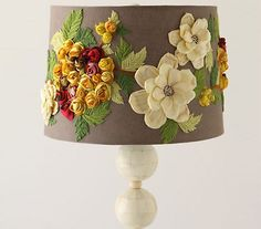 Another Crafty Day: DIY Anthropologie Style Lamp - Felted Flower Goodness