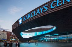 Barclays Center, a indoor sports arena designed by SHoP Architects and AECOM, opens to the public in Brooklyn this weekend. Barclays Center, Pop Up, Restaurant Facade, Shop Architects, Forest City, Brooklyn Nets, Brooklyn Girl, Shop Front Design, Facades