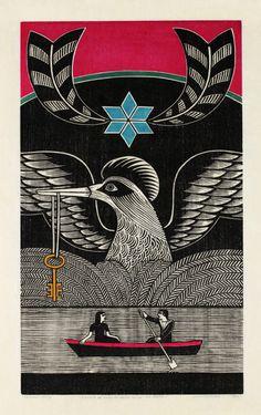 A chave de ouro do reino do vai não volta, 1969 xilogravura de Gilvan Samico