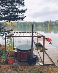 Outdoor Spaces, Outdoor Living, Scandinavian Interior Design, Beach House, Home And Garden, Deck, Cottage, Live, Summer
