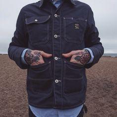 Pointer Brand Navy Chore Coat