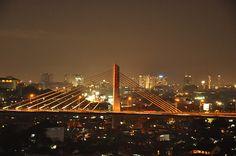 Pasopati Fly Over, Bandung  Malam hari (Night View)