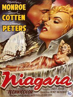 DVD CINE 606-II - Niágara (1953) EEUU. Henry Hathaway. Suspense. Sinopse: uns recentemente casados, en viaxe de lúa de mel, alugan unha casa nun complexo turístico moi próximo ás cataratas de Niágara. Alí coñecen a unha estraña e bela muller. O marido desta móstrase obsesionado polas infidelidades que supostamente ela comete
