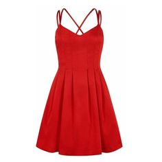 Outline  - The Kew Dress Chilli Red ($230) ❤ liked on Polyvore featuring dresses, flared skirt, circle skirts, red cocktail dress, red strappy dress and red party dresses