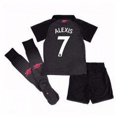 Arsenal Alexis Sanchez 7 Dětské Alternativní dres komplet 17-18 Krátký Rukáv