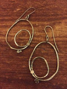Sterling silver circle earrings Circle Earrings, Hand Designs, Lisa, Handmade Jewelry, Copper, Sterling Silver, Handmade Jewellery, Jewellery Making, Brass