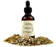 Dandy Tummy Bitters Ingredients 2 parts organic Dandelion Root 1 part organic Fennel Seed ½ part organic Ginger Root ½ part organic Orange Peel Holistic Remedies, Natural Health Remedies, Natural Cures, Natural Healing, Herbal Remedies, Healing Herbs, Medicinal Herbs, Herbal Tinctures, Herbalism
