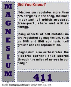 Back to Eden: Magnesium 411: Did You Know?