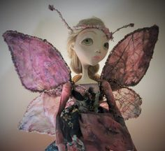 one of a kind art doll Alicia and her butterfly by RubyTrinket