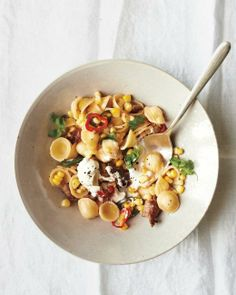 Orecchiette with Sausage, Corn, and Chiles Recipe