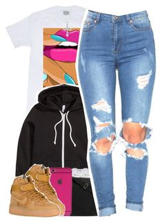 """""""No. 620"""" by dessboo ❤ liked on Polyvore featuring H&M, Yves Saint Laurent, NIKE and Fremada"""