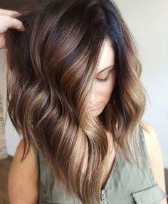 Highlights/ lowlights for Dark Brown Hair Image Description Mocha bayalage on dark brunette base