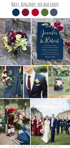 popular navy blue ,burgundy and dark blue fall wedding colors fall wedding corsage / fall wedding boutineers / fall wedding burgundy / wedding fall / wedding colors Fall Wedding Colors, Autumn Wedding, Wedding Color Schemes, Wedding Flowers, Blue Fall Weddings, Wedding Bands, Wedding Reception, Popular Wedding Colors, Wedding Centerpieces