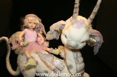 Teresa Watson, Awesome needle felted dragon creature with fairy.
