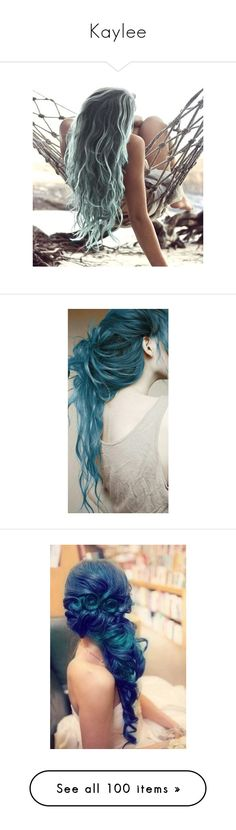"""Kaylee"" by foreverawriter ❤ liked on Polyvore featuring hair, pictures, images, peinados, photo, hairstyles, people, cabelo, fillers and blue hair"