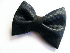 Quilted Black Hair Bow  Fashionable Hair Accessories  by FlosCaeli, $9.99