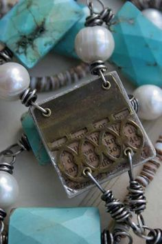 What do you get when you cross books & great jewelry design? A Deryn Mentock masterpiece. Yum!