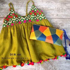 Stylish Dresses For Girls, Cute Outfits For Kids, Hippie Tops, Boho Tops, Boho Outfits, Trendy Outfits, Baby Girl Dress Design, Frocks For Babies, Kids Dress Wear