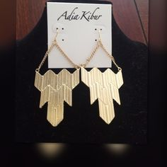 NWT Adia Kibur Drop Dangle Gold Earrings Super cute! Firm price! Adia Kibur Drop Dangle Earrings. Bundle with my other Adia Kibur items or any other items and save!  Retail $55.00 Adia Kibur Jewelry Earrings