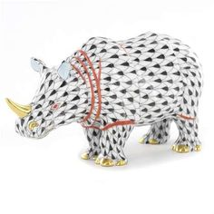 HEREND  Porcelain Rhino