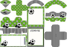Soccer Set: Free Printable Invitations and Boxes for Parties. Soccer Birthday Parties, Soccer Party, Sports Party, Free Printable Invitations, Party Printables, Free Printables, Football Themes, Kids Party Themes, Holidays And Events