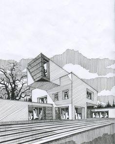 61 new ideas for urban landscape architecture presentation Plans Architecture, Architecture Graphics, Concept Architecture, School Architecture, Architecture Drawing Sketchbooks, Landscape Architecture Drawing, Building Drawing, Building Sketch, Building Ideas