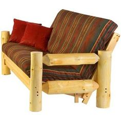 august lotz woods and water collection rocky mountain futon chair futon frame   medina   double   beechwood   bend apartment      rh   pinterest