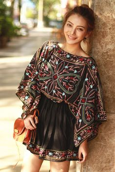 * Bohemian Tunic Dress is now available at Pasaboho. Wholesale and retail all welcome. Fashion trend and styles from hippie chic, modern vintage, gypsy style, boho chic, hmong ethnic, street style, geometric and floral outfits. We Love boho style and embroidery stitches. Free Spirit hippie girls sharing woman outfit ideas. bohemian clothes, cute dresses and skirts.