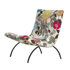 Scoop Chair MidCentury Modern, Upholstery Fabric, Lounge Chair by Downtown