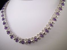 Sterling Silver & Amethyst Half Persian 3in1 Chainmaille by MGGems, $175.00