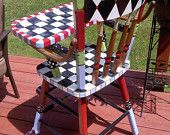 Custom Hand Painted Vintage High Chair by paintingbymichele