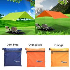 Outdoor Portable Camping Hiking Tent Sunshade Waterproof Shelter Canopy Tentage for sale online Camping Canopy, Hiking Tent, Camping And Hiking, Outdoor Camping, Outdoor Gear, Camping Ideas, Backpacking, Rain Shelter, Camping Shelters