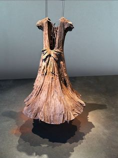OMG!  Brooke Priddy installation.  Cotton dress with clay - so beautiful.