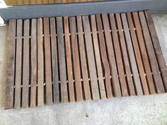 Handmade Tobacco Stick Door Mat by BigStickRevival on Etsy