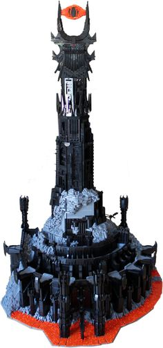One of the more epic builds I have seen. LOTR- Barad-dûr [tall as the guy who built it..]