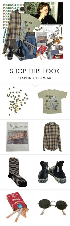 """""""Soft speak with a mean streak"""" by short-skirt-long-jacket ❤ liked on Polyvore featuring Antipast, Converse, ...Lost, CASSETTE, Ray-Ban and Beretta"""