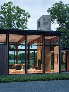 Modern House Design : Woodland House / ALTUS Architecture Design via onreact Modern Glass House, Glass House Design, Modern House Design, Architecture Design, Modern Residential Architecture, Landscape Architecture, Landscape Design, Woodland House, Forest House