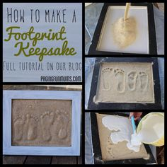 Would be a great project to do with the kids on a beach vacation with the sand from the location to always remember the trip