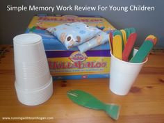 Excellent memory work review games and non-games for Abecedarians and grammar stage! Very fun ones...love the sticks game with movement and cups game too!