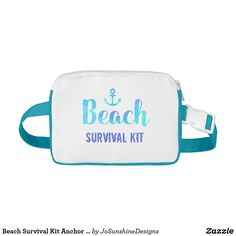 Shop Beach Survival Kit Anchor Watercolor Fanny Pack created by JoSunshineDesigns. Public Service Announcement, Waist Pack, Survival Kit, Cool Gifts, Fanny Pack, Classic Style, My Etsy Shop, Pouch, Packing