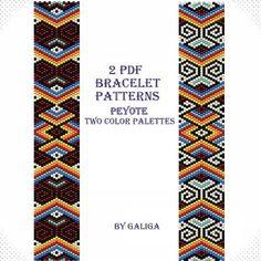 #Peyote pattern Ethnic pattern Peyote #bracelet #pattern by Galiga