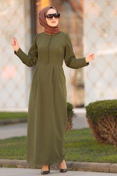 Ootd Hijab, Hijab Dress, Luxury Wedding Dress, Wedding Dresses, The Dress, High Neck Dress, Black Hijab, Daily Dress, Crepe Fabric