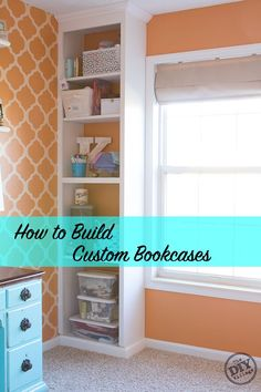 Awesome step by step on how to build custom bookcases!