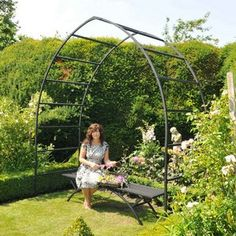 The Gothic Garden Arch mimics the typical church window form found in stunning buildings across the world and represents the best way to bring this powerful, pointed, height-suggesting shape to your garden vista - and with the glorious effects a tunnel of Gothic Arches can create Gothic Garden Arch - Harrod Horticultural (UK) http://www.harrodhorticultural.com/gothic-garden-arch-pid8485.html