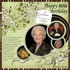 scrapbook for 80th birthday | 80th Birthday