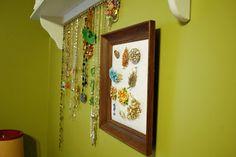 DIY jewelry display ideas.