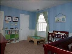 Striped paint for boys nursery