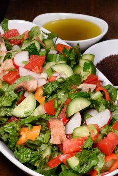Fatoosh via petra kitchen recipe pinterest cuisine salad jordanian fattoush salad with toasted bread forumfinder Choice Image